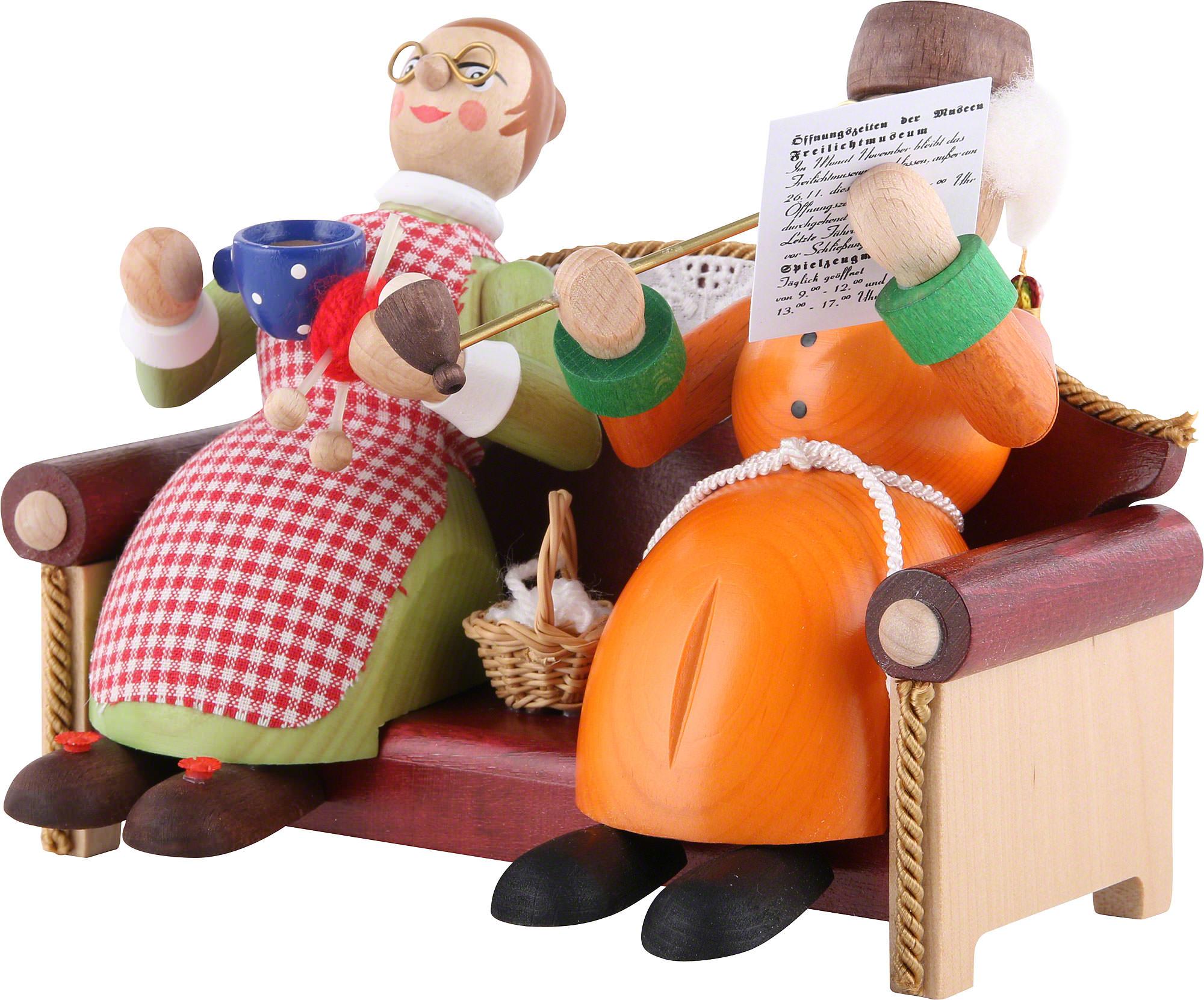 R ucherm nnchen oma und opa auf sofa 13 cm von richard - Ihr werdet oma und opa ...