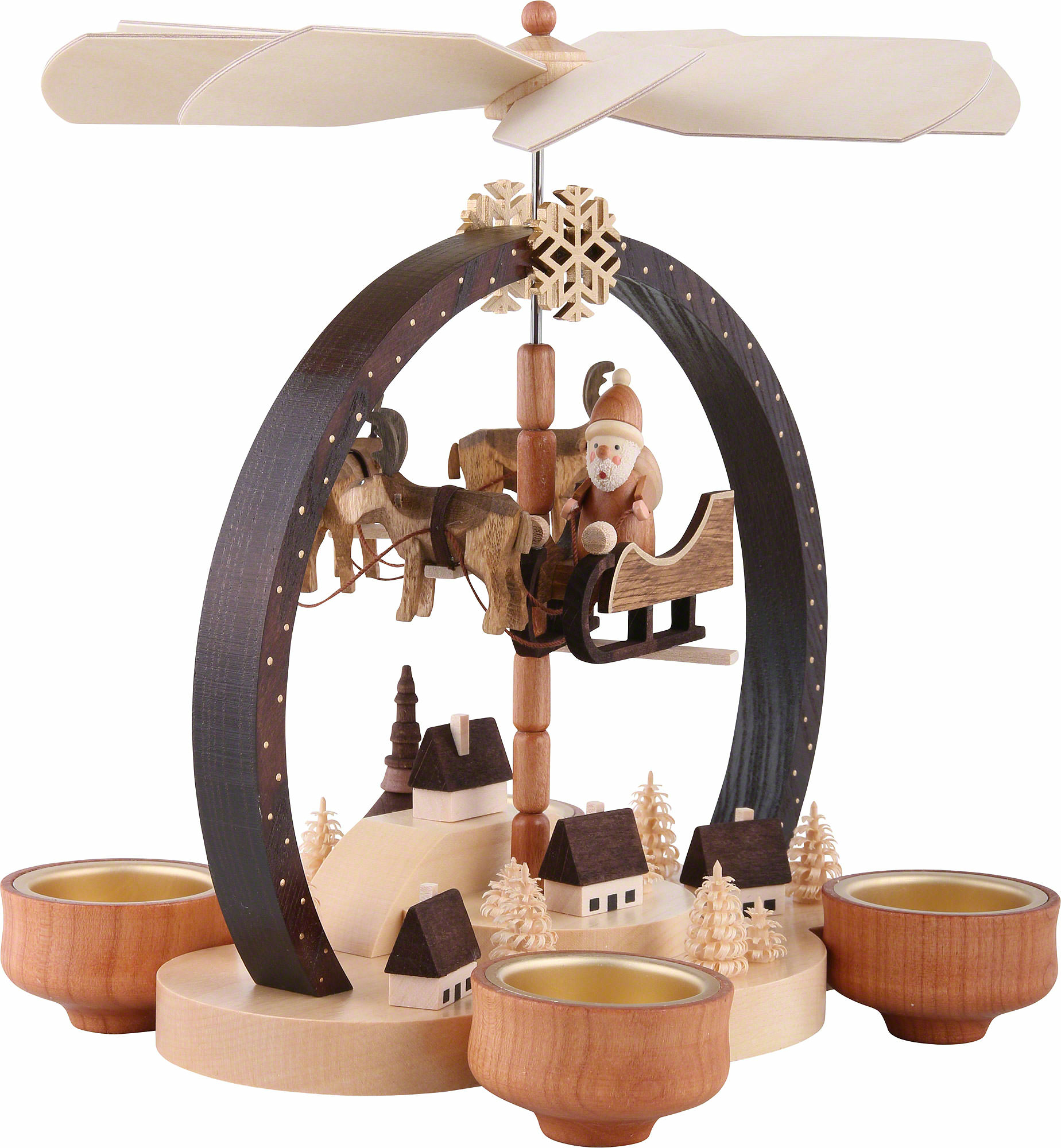 1 st ckige pyramide weihnachtszauber 25 cm von knuth neuber. Black Bedroom Furniture Sets. Home Design Ideas