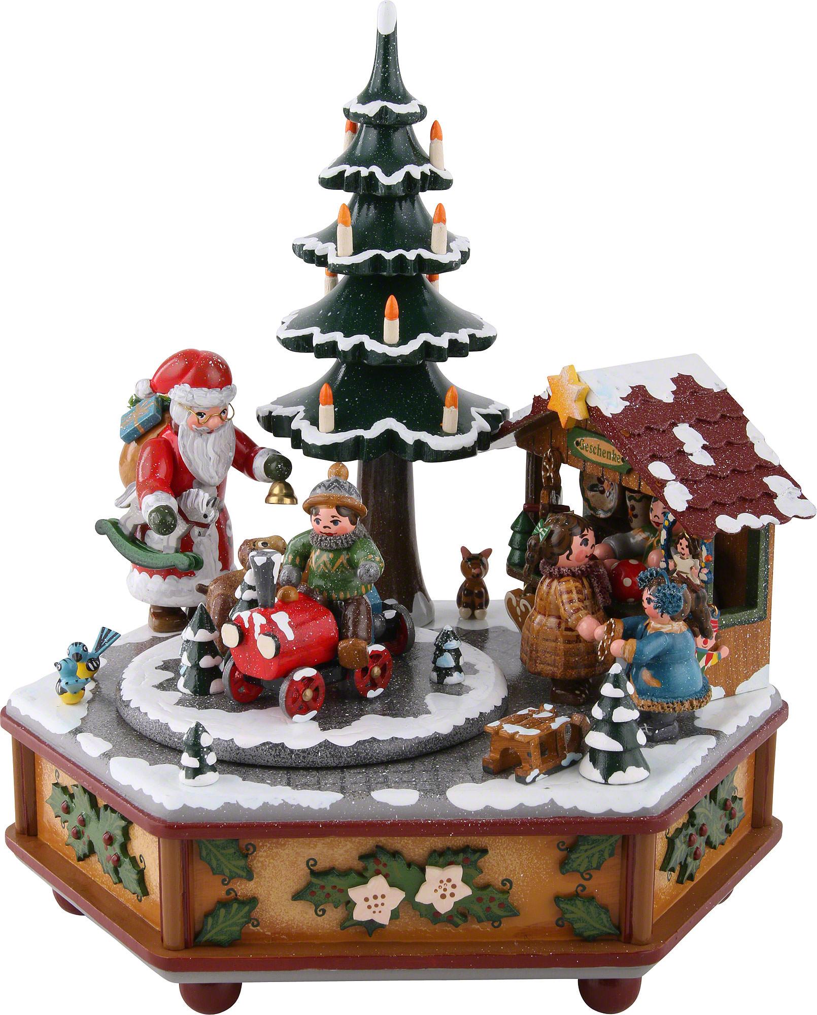 spieldose weihnachtszeit 22cm von hubrig volkskunst. Black Bedroom Furniture Sets. Home Design Ideas