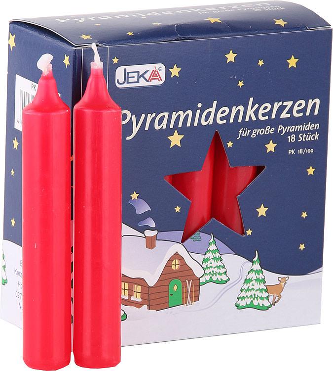 hochwertige pyramidenkerzen rot 1 7 cm durchmesser von. Black Bedroom Furniture Sets. Home Design Ideas