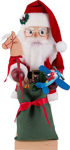 Nussknacker Weihnachtsmann mit Spielzeug 47 cm