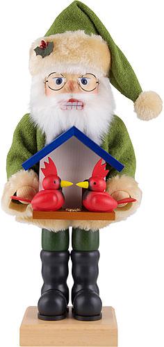 Nussknacker Weihnachtsmann Vogelfreund 46,5 cm