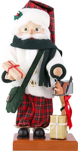 Nussknacker Weihnachtsmann Schottenkaro 46,5 cm