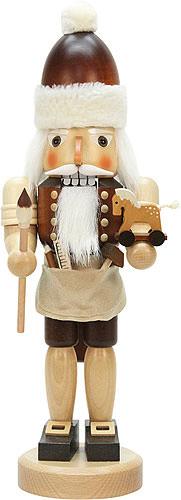 Nussknacker Weihnachtsmann mit Spielzeug natur 42,0 cm