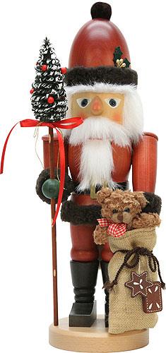 Nussknacker Weihnachtsmann mit Teddy 44,5 cm