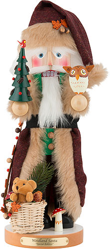 Nussknacker Woodland Santa, limitierte Edition 45 cm