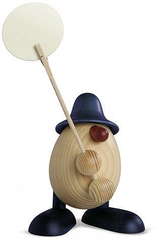 Eierkopf Willi, Zettelhalter, blau 11 cm