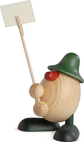 Eierkopf Willi, Zettelhalter, grün 11 cm