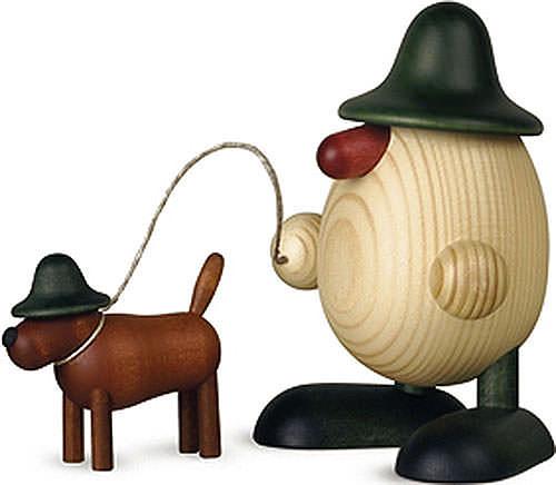 Eierkopf Rudi mit Waldi, grün 11 cm