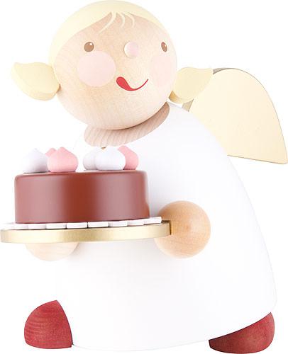 Schutzengel mit Torte 16 cm