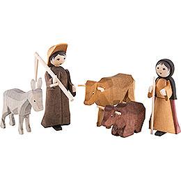 Ulmik Krippenfiguren-Set Bauern und Vieh
