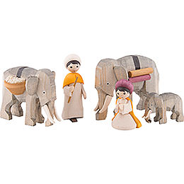 Ulmik Figurengruppe Elefantentreiber