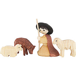 Ulmik Krippenfiguren-Set Hirte mit Schafen